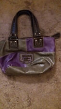 Genuine Leather Guess Brand handbag - purple/charcoal