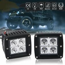 2x 3inch 16W LED Work Light Bar SPOT Fog Cube Pods Offroad Trailer Mining Boat