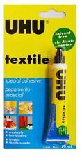UHU Solvent Free Fabric Hemming Mending Textile Glue Adhesive - 19ml