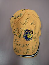 #SS2. SIGNED CENTRAL COSAST MARINERS  FOOTBALL SOCCER SUPPORTER CAP