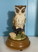 Vtg 1984 Arnart Owl Music Box Plays  I'd Like to Teach the World to Sing