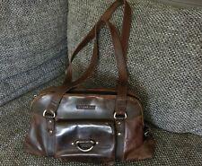 Original Greenburry Vintage Echt Leder Handtasche Bowling Bag Umhängetasche Shop