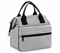 Insulated Lunch Bag for Men & Women Heavy Duty Oxford Nylon - Grey
