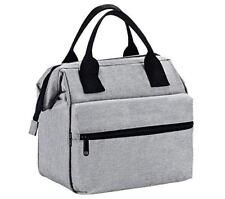 Insulated Lunch Bag for Men & Women Heavy Duty Oxford Nylon - Grey