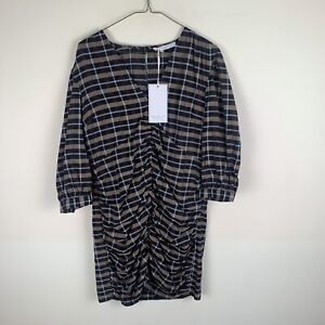 Michelle Keegan Ruched Front Mini Dress Check UK16