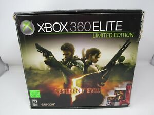 Microsoft Xbox 360 Resident Evil 5 Box Only with Manuals Cardboard Av Cable
