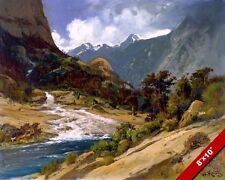 HETCH HETCHY TUOLUMNE RIVER CANYON CALIFORNIA PAINTING ART REAL CANVAS PRINT