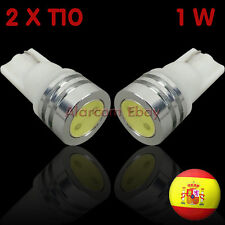2 BOMBILLAS LED COCHE T-10 W5W 1 SMD 0,5W COLOR BLANCO #2026