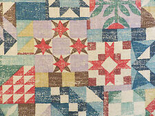 Oak Ridge by Braemore decorator fabric in the teal-multi printed on bark cloth