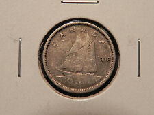 "~1938~ TEN CENTS  CANADA   ""NICE 80% SILVER COIN""."