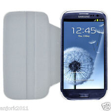 Samsung Galaxy S3 III Flip Case w/ Rotate Stand Cover Accessory White