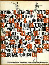 1970 World Series program Cincinnati Reds Baltimore Orioles Gm 3 Jim Palmer Win