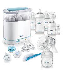 Philips Avent Complete Natural Starter Set BPA Free Bottle Sterilizer Pump Brush