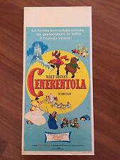 LOCANDINA,1967 CENERENTOLA CINDERELLA WALT DISNEY ANIMAZIONE RANK FILM,RARA!!