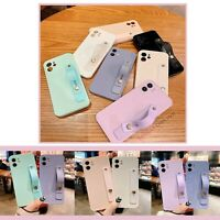 Pastel Soft Wrist Strap Cover Case For iPhone 11 12 MINI PRO MAX 8 XS XR SE 2020
