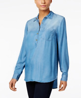 Style & Co. Denim-Look Shirt, Size Small, Retail $54.50