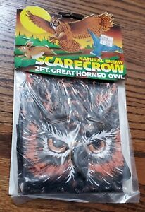 Vintage New Dead Stock 2 Foot Horned Owl Natural Enemy Scarecrow Inflatable