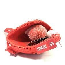 "Franklin Youth Tee Ball Fielding Glove With Ball Right Hand Throw Red 9"" 0979"