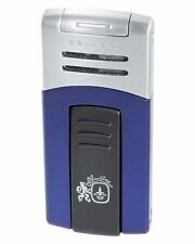 Colibri 412004 Quantum Syndicate Single Flame Cigar Lighter Blue Matte Silver