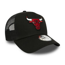 NEW ERA CHICAGO BULLS TRUCKER CAP.9FORTY A FRAME BLACK SNAP BASEBALL HAT W20 0