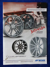Barracuda / Corspeed / Work Wheels Alufelgen Tuning - Katalog Prospekt 2017