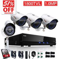 ELEC 1800TVL 8CH CCTV DVR Security Camera System Home Night Surveillance Kit+1TB