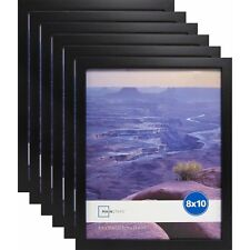 "Set Of 6 8""x10"" Black Linear Wall Poster Picture Photo Hanging Frames Home Decor"