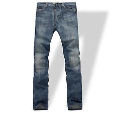 FOX JEANS Men's Gerald Classic Comfort-Fit Straight Blue Denim Jeans SIZE 42
