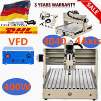 400w Spindle 3040T 4 axis Router Engraver Milling Drilling Machine DHL