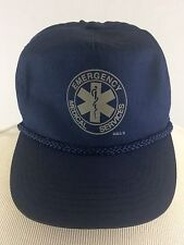 Vintage Emergency Medical Services Double Snapback Hat Cap Navy Blue EMT Gall's