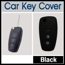 Silicone Car Key Cover Protector Fits for Ford Ranger Focus Fiesta Mondeo BLACK