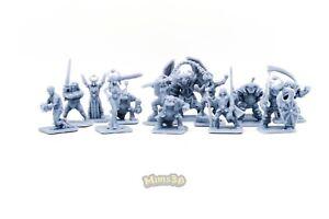 Minis3D -Rep. Heroquest - Custom Bosses. Ulag, Sir Ragnar, Gulthor, Skullmar ...