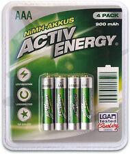 ACTIV ENERGY® AAA Micro HRM03 900 mAh NiMH AKKUS AKKU Wiederaufladbare Batterien