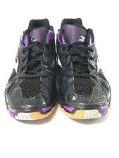 Mizuno Wave Tornado 9 Womens Sz 12 Volleyball Sneaker Black/Purple V1GC161267