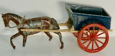 PRE-WAR BRITAINS FARM SERIES #40-F HORSE & CART LEAD FIGURES MADE IN ENGLAND
