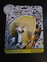 Looney Tunes Bendable Sylvester & Tweety Figures WB New NJ Croce Mint 2017