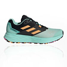 adidas Womens Terrex Two Flow Trail Running Shoes Trainers Sneakers Black Green