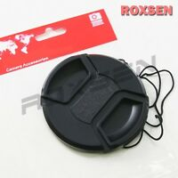 58mm center pinch snap on Front Lens Cap Cover for Canon Nikon Sony w string CA