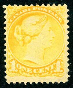 CANADA 1876 QUEEN VICTORIA 1c ORANGE-YELLOW SMALL HEAD (SG73) LMM