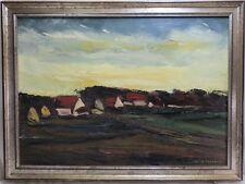 Servaes Jakob Gemälde Landschaft Häuser / Dorf - 2. Hälfte 20. Jh. - Belgien