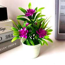 Small Artificial Bonsai Tabletop Home Office Decor 5pcs Lotus Fake Flowers