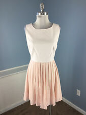 Jack BB Dakota S 4 Blush Pink Faux Leather Pleated A Line dress Cocktail Party