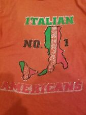 Vintage 70s Italian Cut Off T-Shirt Small Womens Red