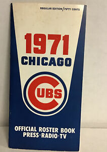 Vintage 1971 Chicago Cubs Official Roster Book Press Guide Mlb Mears