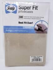 Sealy Super Fit Pillow Cases 340 Tc Cuccino Std Queen Capture Top 100 Cotton