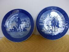 Set of 2 Royal Copenhagen Plates - Immervad Bridge & Greenland Scenery- Euc