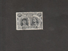 BRIT SOUTH AFRICA CO RHODESIA 1910 GEORGE 2d BLACK GREY USED SG# 171 CV 32