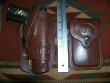 Colt 45 Model 1911 Leather Holster & Magazine Pouch - Wild Bunch Style