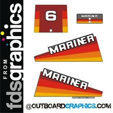 Mariner 6hp rainbow outboard engine decals/sticker kit - other outputs available