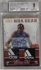 10/11 National Treasures Kevin Durant Adidas Logo Patch Tag # 5/5 1/1 Auto Bgs 9